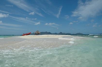 - Imagen de las cristalinas aguas del Caribe -