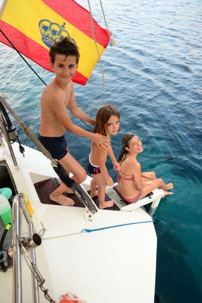Cola para el chapuzón de la mañana: Uno de los alicientes de estas vacaciones en familia es estar siempre cerca del agua.
