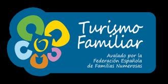Sello Turismo Familiar. Avalado por la federación española de familias numerosas.