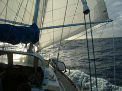 - Cubierta del velero -