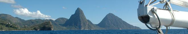 - Vista desde el velero de la aproximación a tierra -